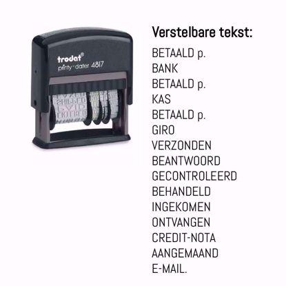 Bild von Trodat Datumstempel 4817 NL