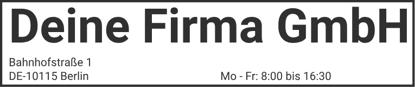 Bild von Vorlage Firmenstempel 3 Zeilen gross